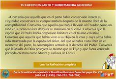 MISIONEROS DE LA PALABRA DIVINA: REFLEXIÓN - TU CUERPO ES SANTO Y SOBREMANERA…