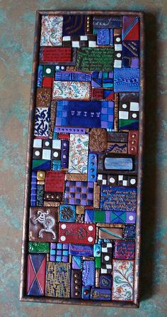 Poly clay mosaic