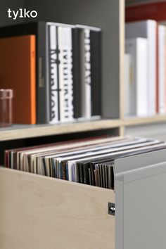 Your vinyl deserves a beautiful home. Meet the Type01 Vinyl Storage. Perfectly sized rows for all your records. Durable plywood that doesn't sway or sag. Customise the height to your turntable. #vinylstorage #vinyllove #vinylshelf #vinylrack