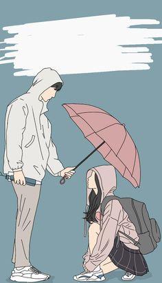 Cute Couple Drawings, Cute Couple Cartoon, Cute Couple Art, Couple Pics, Cartoon Girl Images, Cartoon Art Styles, Girl Cartoon, A Silent Voice Anime, All The Bright Places