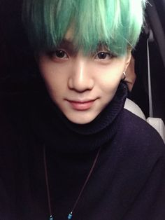 Yoongi and this teal hair...I am weak
