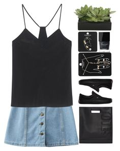 """""""16:25"""" by unadores ❤ liked on Polyvore featuring WithChic, Calvin Klein Jeans, 3.1 Phillip Lim, Vans, Lux-Art Silks, Topshop and Butter London"""