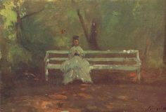On a Garden Bench Sketch, 1873 by Szinyei Merse, Pál 1845 - 1920 was a Hungarian painter and politician Garden Park, Various Artists, Green And Brown, Art Education, Polar Bear, Female Art, Art Quotes, Fashion Art, Fine Art