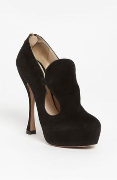 Prada Cutout Bootie - Why do I love these, so?  I know I could not wear them, but my goodness they are sexy.
