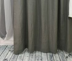 The gray linen curtains and drapes add sophistication and poise to any window. Custom made from richly texture natural linen. As a general rule, for proper fullness panels should measure 2-3 times the width of your window/opening.  All pieces are made of linen woven from French flax, handcrafted one piece at time in our workshop. Made to order, we hope the piece will last to generations to come. 
