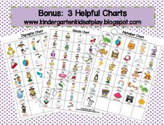 85 Digraphs, Blends, and Alphabet Flash Cards With Bonus Charts Included product from Kindergarten-Kids-At-Play on TeachersNotebook.com