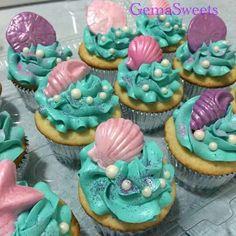 Super Baby Shower Ides For Girs Cupcakes Mermaid Parties Ideas Little Mermaid Cupcakes, Sea Cupcakes, Little Mermaid Parties, Mermaid Cakes, Cupcake Cakes, Seashell Cupcakes, Cupcakes Kids, Mermaid Theme Birthday, Girl Birthday