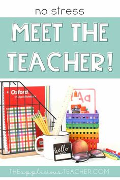 Ready to plan a no stress meet the teacher event? This post has everything you need!