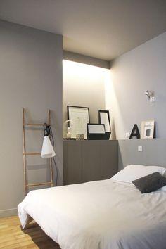 bonne idée la niche lumineuse pour un éclairage indirect dans une chambre