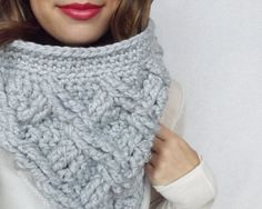 Crochet Pattern Camdyn Cable Cowl by Lakeside by LakesideLoops