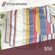 Anthropologie - The Odell's Striped Skirt *NEW* * Multi color striped * Zip front closure * Front pockets  Thanks for looking! Anthropologie Skirts