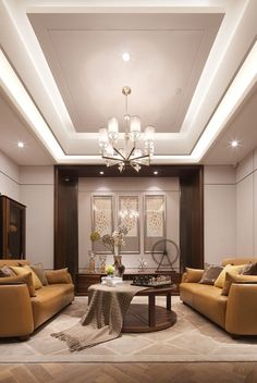 6 Creative Ideas: False Ceiling Dining White Kitchens false ceiling living room with chandelier.False Ceiling Ideas Built Ins false ceiling dining interiors. Living Room Lighting Design, Luxury Living Room, Room Design, Cove Lighting Design, Living Room Ceiling, Living Room Lighting, Ceiling Design Living Room, Living Design, Living Room Designs
