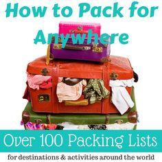 A resource of over 100 packing lists (and growing) for female travelers! Never pack incorrectly again. #herpackinglist