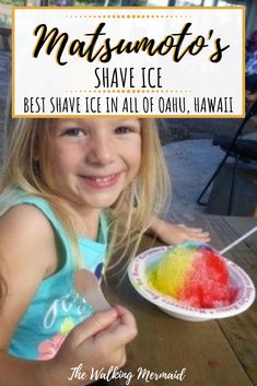 Matsumoto's Shave Ice is by far the very best shave ice in all of Oahu, Hawaii. If you are ever on the island of Oahu, don't forget to cool off here. Read the full guide to Matsumoto's Shave Ice and all of my favorite flavors here. Hawaii Vacation Tips, Hawaii Travel Guide, Maui Travel, Free Travel, Travel Usa, Travel Destinations, Vacation Ideas, Turtle Beach, Pearl Harbor