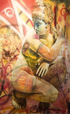 New Walls And Canvases By Pichi Avo That Mix Classic Greek - Beautiful giant murals greek gods pichi avo