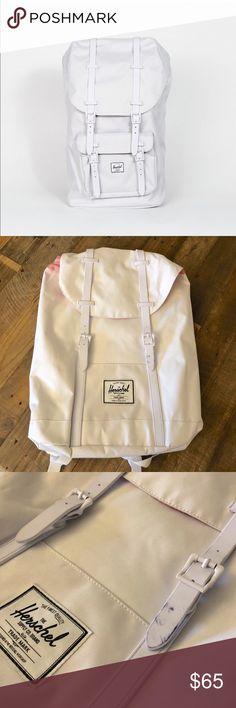 Herschel Supply Co. Retreat White Backpack Awesome backpack with compartment for laptop. Please note that theirs some stains from store mishandling other than that it's in excellent unused condition. Herschel Supply Company Bags Backpacks