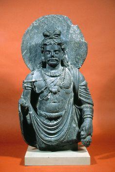 Bodhisattva Maitreya Pakistan (Gandhara), ca. 2nd–3rd century Schist 84.66 Gift of Mr. Eric Neff Height: 64 cm Museum of Art and Archaeology University of Missouri