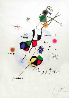 Joan Miró — Els Castellers Etching and aquatint