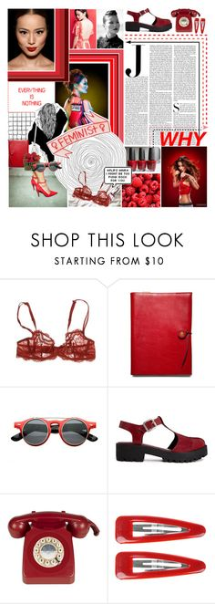 """#528. these are a few of my favourite things."" by stylista2001 ❤ liked on Polyvore featuring Vanity Fair, MAKE UP FOR EVER, Dollhouse, Simone Perele, Coach, AG Adriano Goldschmied, Retrò, ASOS, Forever 21 and red"