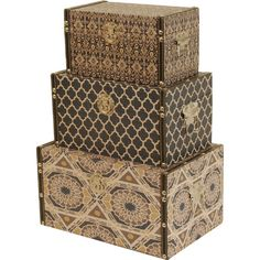 Decorative Boxes Storage Diy Home Decor Aqua And Gold Lacquer Paint Box Set  Wood Boxes