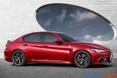 Alfa Romeo Giulia Quadrifoglio Quadrifoglio Turismo Rosso Competizione Exterior Lateral-Frontal 4 puertas