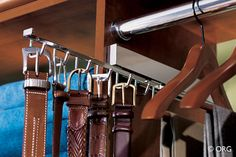 Pull out belt rack can be used to store belts, scarves or even necklaces.