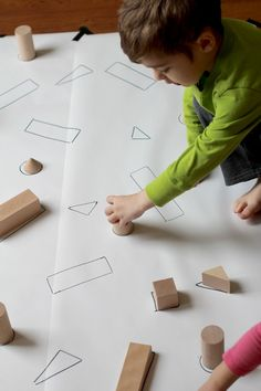 Create this DIY Giant Block Puzzle with just a few materials in a matter of minutes. Great for a variety of developmental skills including fine motor and visual motor. Montessori Activities, Preschool Classroom, Learning Activities, Preschool Activities, Shape Activities, Preschool Shapes, Kindergarten Math, Early Learning, Kids Learning