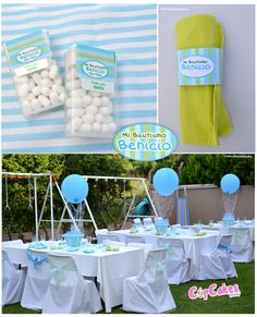 Blue and Green Baptism Party #bluegreen #party