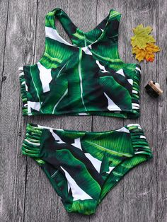 0cbdb735428 Sexy Leaf Printed Hollow Out Bandage Racerback Juniors Bikinis Swimsuits is  worth buying