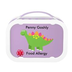Personalized Medical Food Allergy Alert Lunch Box