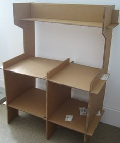 Toy Kitchen - cardboard assembled by forty-two roads, via Flickr