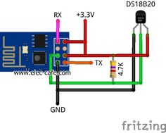 Temperature Sensor on the web with ESP8266 and DS18B20_Elec-Cafe