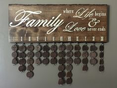 Wood family birthday plaque