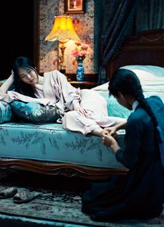 Kim Min-hee & Kim Tae-ri 'Agasshi/The Handmaid' Tv Series Online, Movies Online, Park Chan Wook, Kim Min Hee, Pikachu, Films Cinema, Serge Gainsbourg, Film Aesthetic, Theater