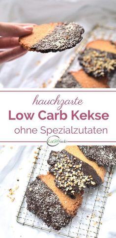 Hauchzarte Low Carb Mandelkekse ohne Zucker ohne Mehl