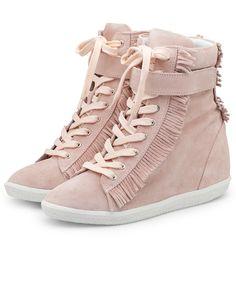Sneakers Fringes Pink by SuperTrash.