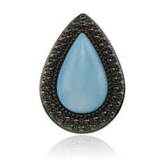 SAMANTHA WILLS - BOHEMIAN BARDOT RING - PEARL BLUE. giant version of my engagement ring! something blue