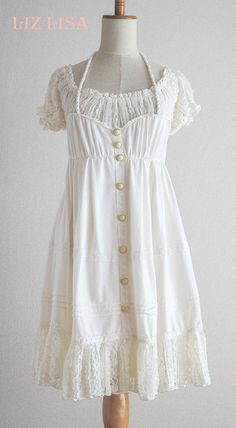 LIZ LISA Lolita Hime Gyaru Preppy Sweet Kawaii Pink JSK One piece Dress Japan #LIZLISA