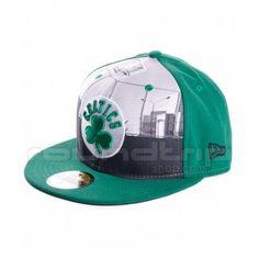 f4b048cea61fe Gorra New Era Round Dway Boston Celtics 59FIFTY Cap verde