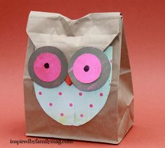 O is for owl - Fall Paper Bag Crafts - Inspired By Family Magazine