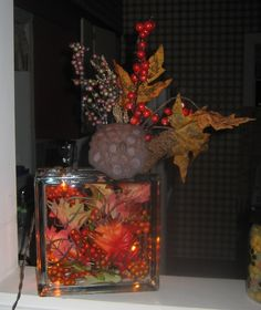 Fall Color String Lights : 1000+ images about CRAFTS on Pinterest Glass blocks, Lighted glass blocks and Glass cube