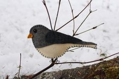 bird patterns, felt christmas, ornament pattern, felt patterns, felt birds, bird ornament, darkey junco, ornaments, wild birds
