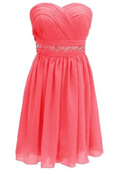 Dressystar Short Bridesmaid Dress Coral Bridesmaid Dresses
