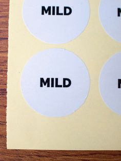 Mild sticker white glossy paper black ink by ctdscraftsupply Food Stickers, Ink, Paper, Handmade Gifts, Etsy, Black, Kid Craft Gifts, Black People, Craft Gifts