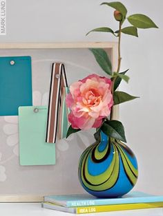Rose in vase on desk Plant life left corner of your desk will attract wealth; on the right corner will energize your marriage
