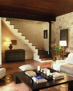 Living Room  #country #cottage  #stamford #connecticut #stairs Stamford Connecticut, Home Improvement, Stairs, Cottage, Living Room, Studio, Country, Design, Home Decor
