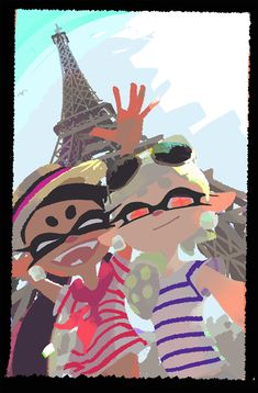 Callie and Marie in Paris,France