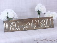 Here Comes The Bride Rustic Wedding Sign Country Wedding Decor Flower Girl Ring Bearer Sign Country Wedding Decorations, Rustic Wedding Signs, Wedding Signage, Wedding Ceremony, Our Wedding, Dream Wedding, Wedding Stuff, Wedding Bells, Here Comes The Bride