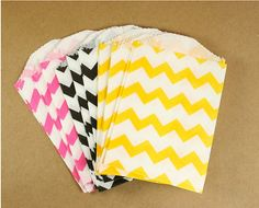 I'm ordering the hot pink chevron bags for the party.