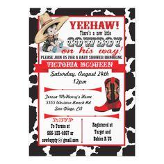 Cowboy Baby Shower Invitation